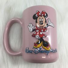 Walt Disney World 3D Minnie Mouse Pink Blue Coffee Mug 16 oz Cup