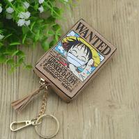 model luffy  PU anime coin purse wallet small handbag bag new