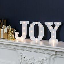"16cm Battery Power Christmas ""JOY"" LED Light Up Letters | Indoor Home Decoration"
