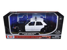 1:24 MOTORMAX BLANK BLACK AND WHITE FORD CROWN VICTORIA POLICE DIECAST NIB