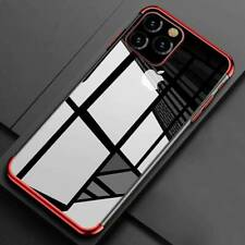 For iPhone 11 12 Pro Case Shockproof Plating Clear Slim Hybrid Bumper TPU Cover