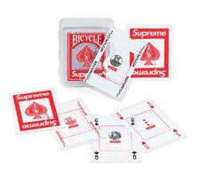 Supreme Fw20 Bicycle Clear Playing Cards Red