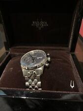 Bulova Murren Chronograph Automatic Grey Sunray Dial Men's Watch 63C119