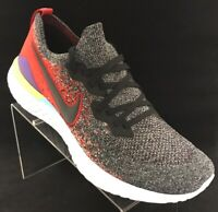 Nike Epic React Flyknit 2 Black Red Multicolor BQ8928 007 Men's Size 12.5 NWB
