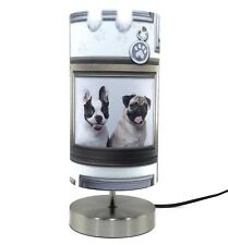 Pug Dog Lamp Light Lampshade Bedside Table Lamps Girls Puppy Love Dogs In Frames