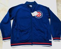 Chicago Cubs Men's Baseball Track Jacket Full Zipper NWT Authentic Blue Size XL