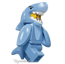 LEGO MINIFIGURES SERIE 15  MINIFIGURA SHARK SUIT GUY 71011 - ORIGINAL MINIFIGURE