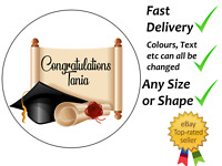 Personalised cake topper Graduation congratulations wafer icing edible