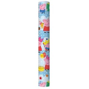 2 x 2m (each roll 2m x 69cms) PEPPA PIG Roll Wrap Gift Wrapping Paper