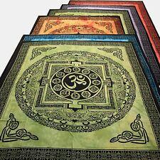 Tagesdecke Bettüberwurf  Kalachakra Dekotuch Yoga Tibet Wandbehang Om Mantra