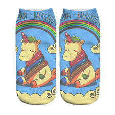 Angle Horse Unicorn Animals 3D Print Harajuku Low Cut Ankle Spring Cotton Sock