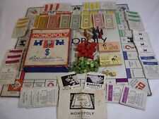 1935 1936 ANTIQUE MONOPOLY BOARD Game all Wooden Toy Pieces