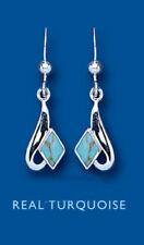 Pendientes de joyería con gemas ganchos turquesa