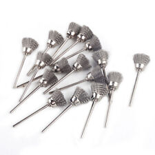 """16* 1/8"""" Shank Grinder Rotary Tool Stainless Steel Bristle Shape Wire Cup Brush"""