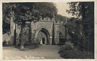 1910's VINTAGE PHOTO POSTCARD - BINDON ABBEY ENTRANCE No. 135 Plantagenet Kings
