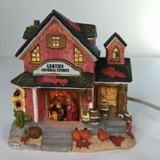 Holiday Harvest Gerties General Store Ceramic Village Lighted House Thanksgiving