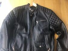 Custom made  mens designer style leather  Biker jacket                  dsquared