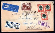 South Africa Airmail postal hisory cover to Holland WS7593