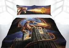 Anne Stokes 'Dragon's Fury' Mystical QUEEN BED Quilt Cover Doona Set