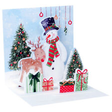 3D Pop Up Bird Snowman and Deer Christmas Greeting Card from Up With Paper