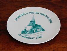 Domérat, assiette concours de patés 2003, église Saint Pardoux, Givrette