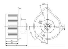 HVAC Blower Motor Front TYC 700163