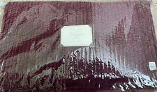 NEW Pottery Barn Monique Lhuillier Velvet Channel KING Quilt~Eggplant