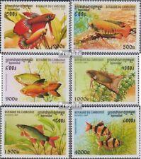 Cambodge 1762-1767 (complète edition) neuf avec gomme originale 1997 poissons d'