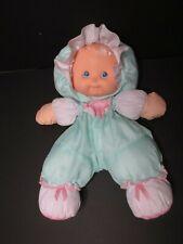 "Vtg 1990 Fisher Price - Green Sherri - Puffalump Kids Baby Doll w/ Dots 13"" -"