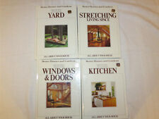 (4) Vintage Better Homes and Gardens All About Your House Books Copyright 1983-4