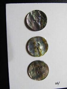 """12P Pearl BLAZER SUIT BUTTON Lot coat Sew Trims Genuine Pearl  Dk Color 7/8"""""""