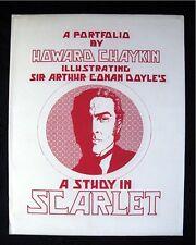 HOWARD CHAYKIN ART PORTFOLIO LTD ED S/N SIR ARTHUR CONAN DOYLES STUDY IN SCARLET