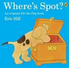 WHERE'S SPOT? - ERIC HILL - A LARGE LIFT-THE-FLAP BOOK - NEW PAPERBACK