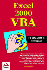"""""""VERY GOOD"""" Excel 2000 VBA Programmer's Reference, Green, Book"""
