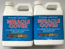 Miracle Cover All Purpose Liquid Sealant - Quart sized - 2 pack