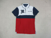 VINTAGE Tommy Hilfiger Polo Shirt Adult Extra Small Red Blue Spell Out Rugby 90s