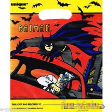 BATMAN the ANIMATED SERIES FAVOR BAGS (8) ~ Birthday Party Supplies Plastic Loot