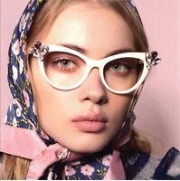 Diamond Vintage Cat eye Eyeglasses Frames Women Designer Glasses Fashion Eyewear