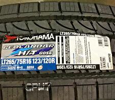 4 New LT 265 75 16 LRE 10 Ply Yokohama Geolandar H/T G056 Tires