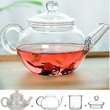 Heat Resistan Glass Teapot With Infuser Coffee Tea Leaf Herbal Pot 250ml CN