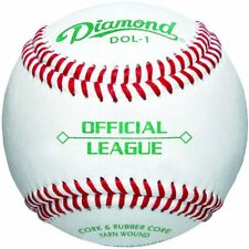 Diamond Dol-1 Official League Leather Baseballs 12 Ball Pack (3 Pack)