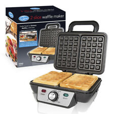 Quest New 2 Slice Waffle Maker non-Stick Stainless Steel 1000 W Cool Touch Handle