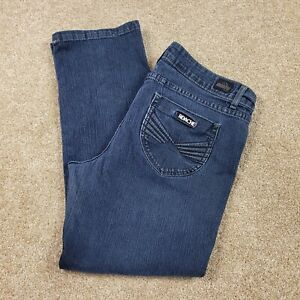 Jordache jeans Sz 14 Womens Straight Leg Dark Blue Denim Pants