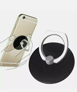 Black Finger Grip Ring Stand Phone Holder For iPhone Phone Tablet Rotating  UK
