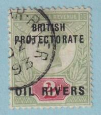 NIGER COAST PROTECTORATE 3 USED - NO FAULTS EXTRA FINE!