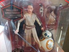 "Disney Star Wars Rey Elite Die Cast Black Series 6"" Figure SDCC RETIRED"