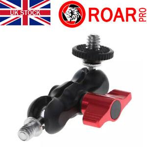 "RoarPro Double Ball Head Mini Magic Arm Mount 1/4"" DSLR"