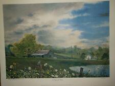 "MICHAEL SLOAN ""A SCENT OF RAIN"" L/E RURAL FARMING PRINT #824 OF 1050 WITH COA"