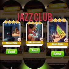 coin master cards Jazz Club set 1X