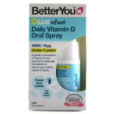 Better You Dlux Infant Daily Vitamin D Oral Spray 400IU (10µg) - 15ml Bottle